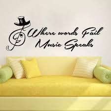 musik vinyl wandtattoo musical notes worte schriftzug wandbild wandaufkleber musik wohnzimmer schlafzimmer musik pvc wandtattoo home dekoration