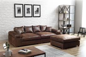 big sofa megasofa riesensofa arezzo vintage braun inkl hocker