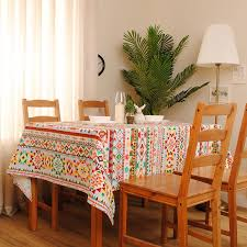 Aliexpress Buy 1Pcs New Arrival Indian Style Square Table Cloth Cotton Linen Dinner Cover 7070cm 9090cm 8 Sizes Accept Customize From Reliable