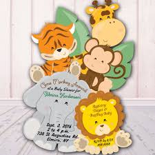 Boy Jungle Baby Shower Invitation Girl Baby Invitations