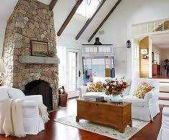 Awesome Stone Fireplace Design For Cozy Living Room White With Amazing