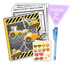 100 Kidds Trucks Gift Idea Construction Kids Diary With Lock BirthdayGalorecom