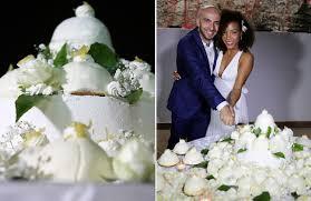 Italy Bride And Groom Cut Cake At Their Destination Wedding On The Amalfi Coast
