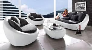 designer mega sofa in runder form weiß schwarz sofa