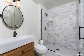 Kohler Vox Sink Images by Country 3 4 Bathroom With Inset Cabinets U0026 Penny Tile Floors In