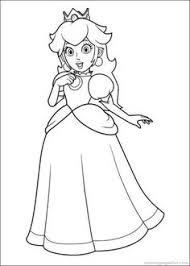 Printable Super Mario Princess Toadstool Coloring Pages