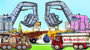 Truck City: Wrecking Ball Truck, Excavator, Explosive Demolition ...