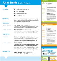 Creative Resume Template Design Vector Material Templates Photoshop Free
