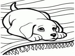 Kawaii Dog Coloring Page Printable Download Free