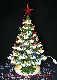 Table Top Lighted Christmas Tree Ceramic Trees Tittle Tabletop Artificial