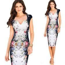 2017 New Vintage Womens Clothing Short Sleeve Summer Work Casual Party Elegant Floral Butterfly Print Bodycon Pencil Dresses