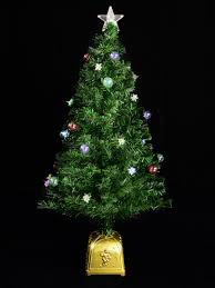 Fibre Optic Christmas Trees Uk by Multi Colour With Bauble U0026 3 Dimensional Star Decorations Fibre