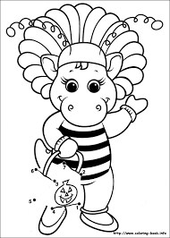 Barney And Friends Coloring Picture