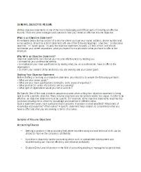 General Resume Objective Statements Summary Examples Objectives Customer Service Or