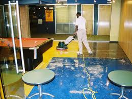 Floor Buffer Maintenance by Floorcare Specialists Resilient Floor Covering Service