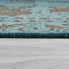 details about orient kurzflor teppich wohnzimmer moderne vintage optik türkis beige