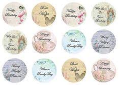 Vintage Cupcake Toppers Birthday Tea Party By TheVillageCakeCo