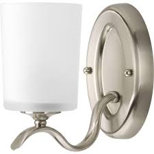 Home Depot Bathroom Lighting Brushed Nickel by Progress Lighting Alexa Collection 1 Light Brushed Nickel Bath