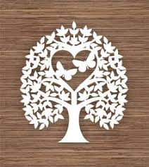 Butterfly Leaf And Heart Tree PDF SVG Commercial Use Instant Download Digital Papercut