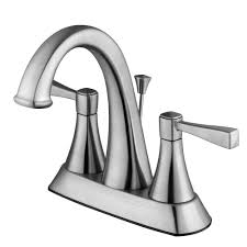 Brushed Nickel Bathroom Faucets Cleaning by Kohler Rubicon 4 In Centerset 2 Handle Bathroom Faucet In Vibrant