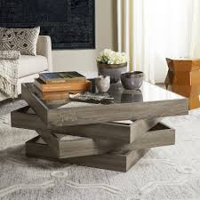 100 Living Room Table Modern Safavieh Anwen Geometric Wood Coffee 335 X 335 X 158