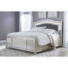 ashley furniture coralayne king panel bed in silver local