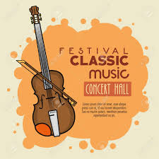 Poster Of A Festival Classic Music Concert Hall Vector Illustration Graphic Design Stock