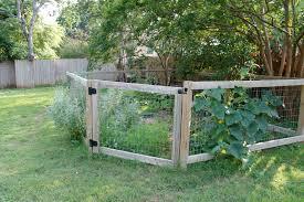 Rustic Vegetable Garden Fence