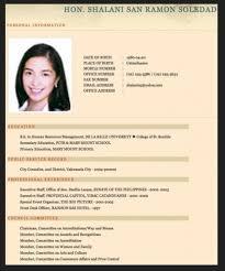 Curriculum Vitae For Resume Sample Fresh Graduate