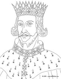 KING HENRY II Coloring Page