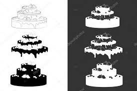 Big wedding or birthday cake Vector Graphics