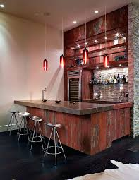 Fancy Rustic Bar Lights Ideas Home Contemporary With Wet Wood Ceiling Lighting