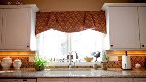 Kitchen Curtains Valances Patterns by Kitchen Awesome Bay Window Kitchen Curtains And Window Treatment