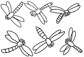 Dragonfly Coloring Page Simple Design Pages Download Colouring For Adults