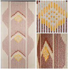 Doorway Beaded Curtains Wood by Wood Beaded Curtain Home U0026 Garden Ebay