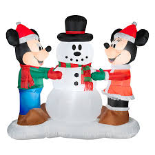 5151ft Internal Light Mickey Mouse Christmas Inflatable At Lowescom