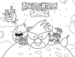 Popular Game Angry Birds Space Coloring Pages