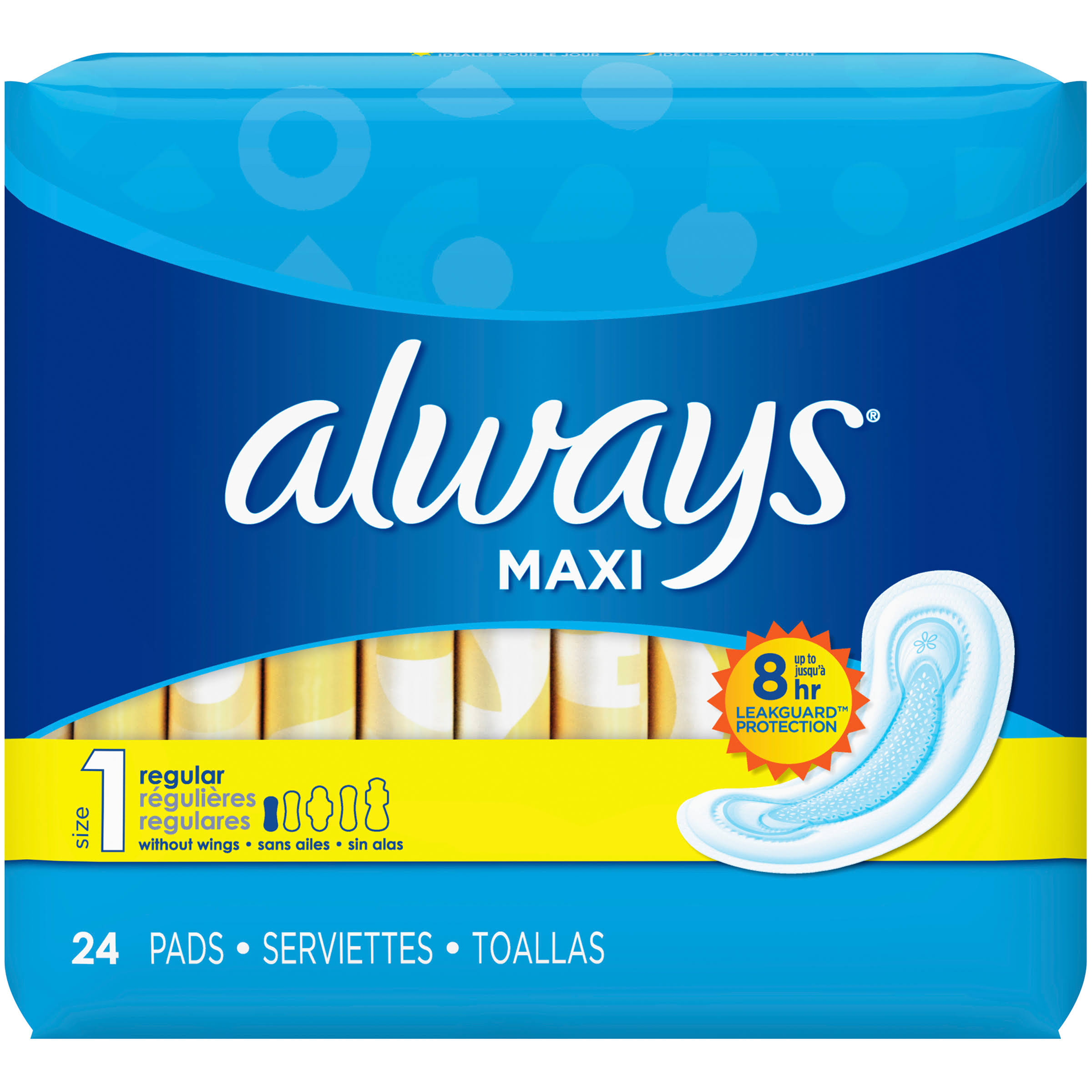 Always Maxi Regular Pads - 24's