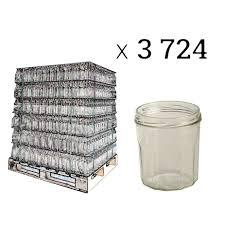 pots de confiture vides pots à confitures 12 côtes 324 ml par palette de 3724 tom press