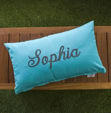Outdoor Furniture Cushions Sunbrella Fabric by Custom 20x12 Inch Monogrammed Pillow Made With Sunbrella Fabric