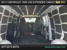 2011 Chevrolet 3500 4x4 Extended Cargo Van For Sale In Tampa Florida