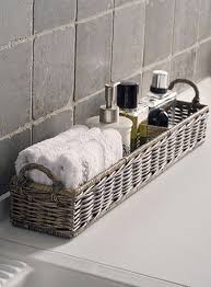 rivièra maison rustic rattan rectangular basket badezimmer