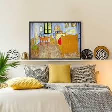 bild mit rahmen vincent gogh schlafzimmer in arles querformat 3 4