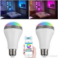 smart led light bulb wireless bluetooth audio speakers 3w e27 led