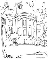 Best White House Coloring Page 78 With Additional Free Kids