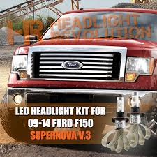 2009 2014 ford f150 reflector h13 dual beam led headlight bulbs
