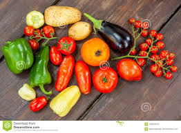 100 Fresh Home And Garden Colourful Variety Of Grown Vegetables Stock Photo
