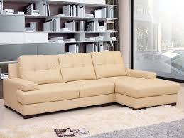 canapé cuir d angle canapé cuir d angle bari 3 places beige 58386