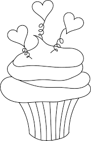 Cupcake Clipart Black And White 5210