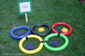 BACKYARD OLYMPICS Get The Whole Family Involved In Olympic Games These Fun Bean Bag Toss Supplies